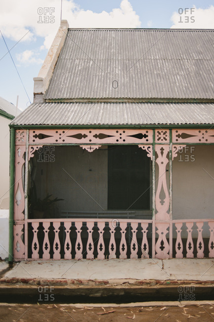 House with screened in front porch in Karoo, South Africa