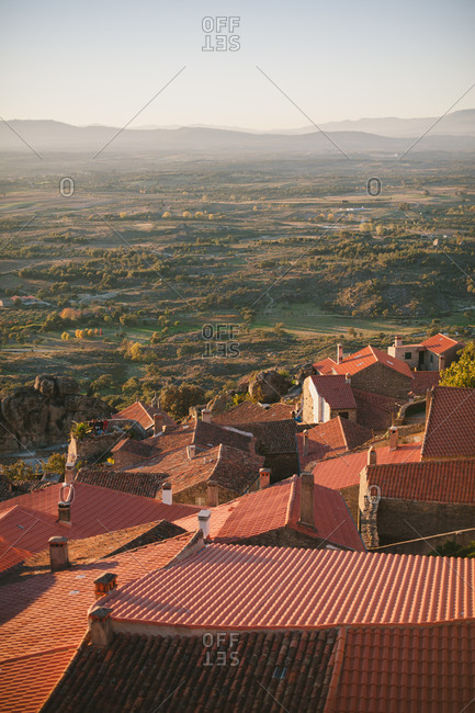 Red rooftops in Monsanto, Portugal