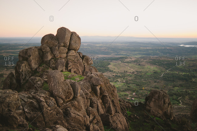 Boulders on the mountains in Monsanto, Portugal