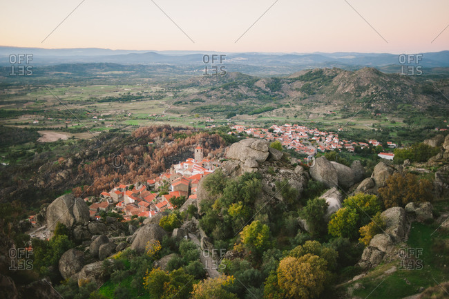 Mountainside village of Monsanto, Portugal