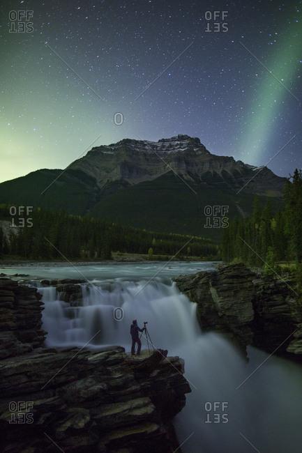 Aurora Athabasca Falls