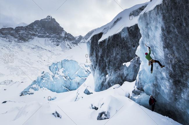 Climbing Athabasca Glacier