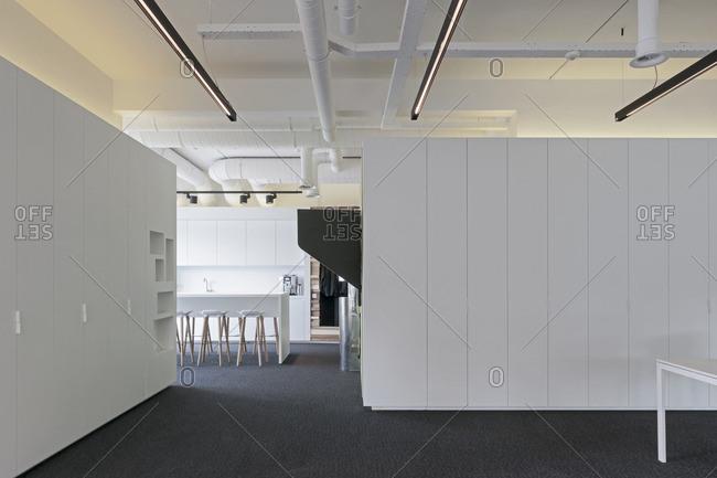 An interior of a modern building