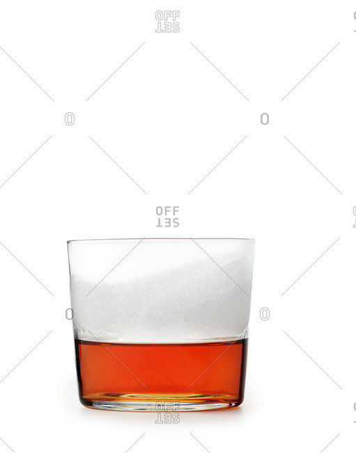 Sazerac cocktail on white