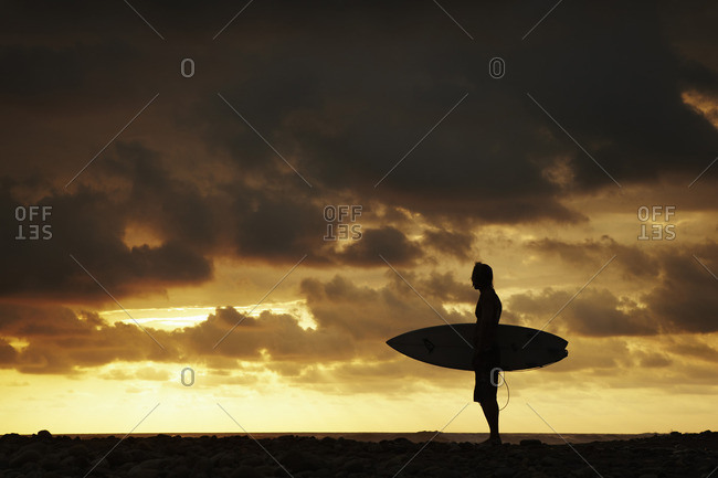 Surfer at Playa Dominical - Offset