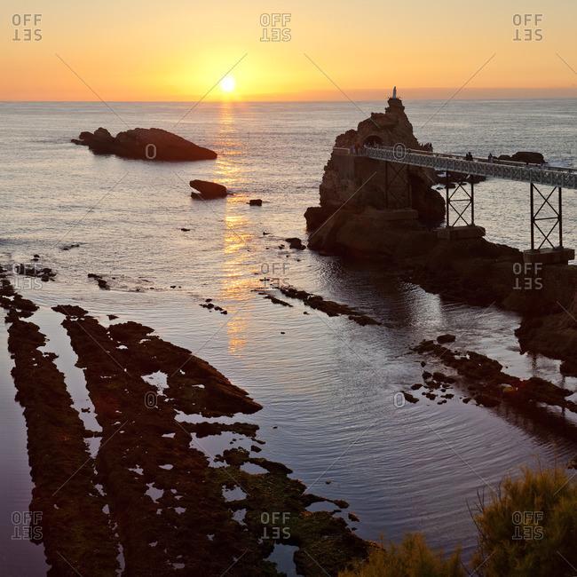 Rocher de la Vierge or Virgin's Rocks at sunset