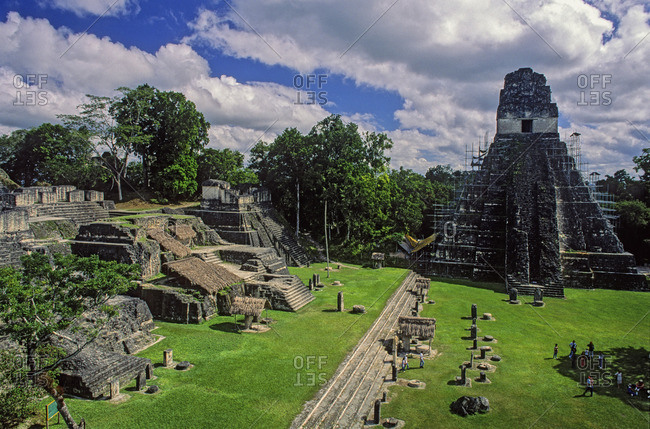 The Great Plaza and North Acropolis in Guatemala