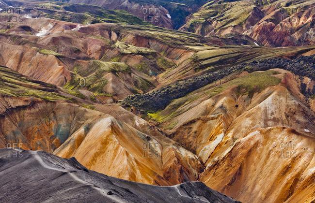 Volcanic landscape on Landmannalaugar - Offset