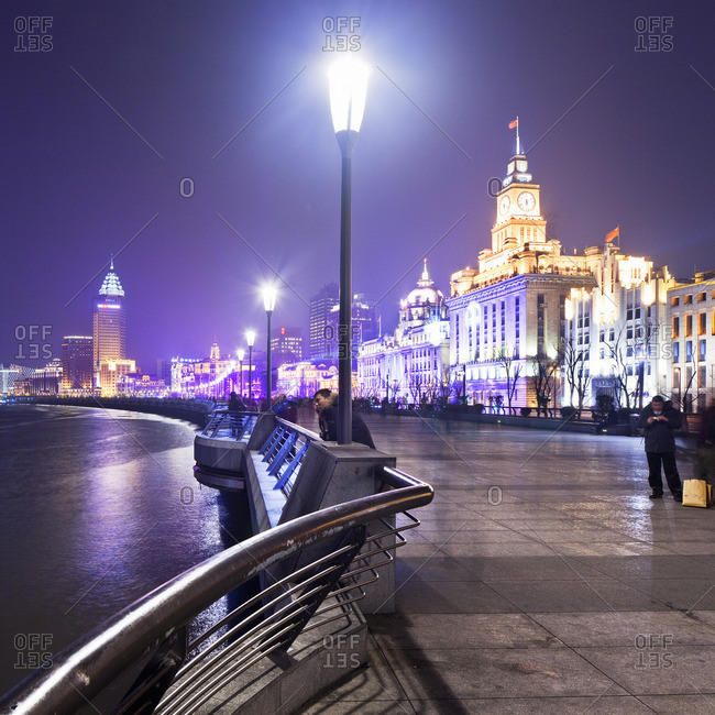 The Bund waterfront at night