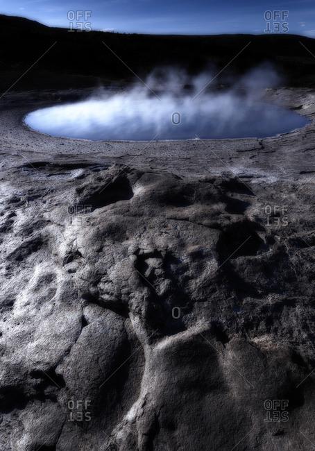 Geysir geothermal area of old Strokkur