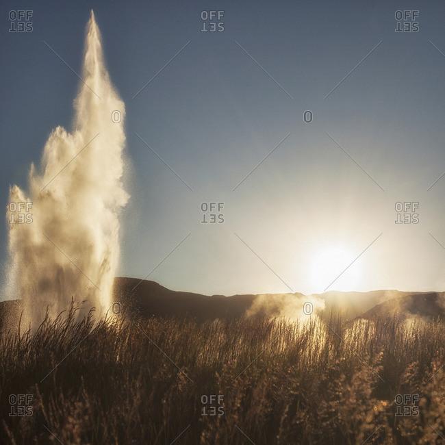 Geysir geothermal area Strokkur - Offset