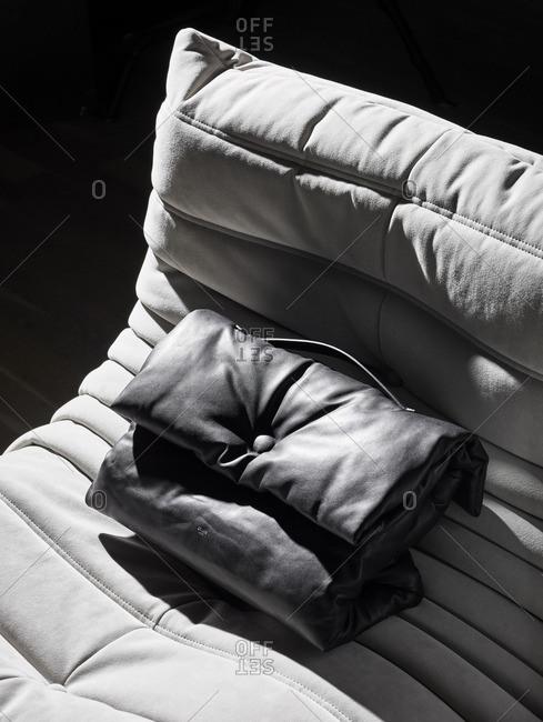 Plush bag on a chair