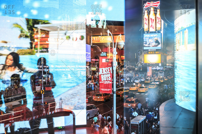 Reflections of Times Square - Offset