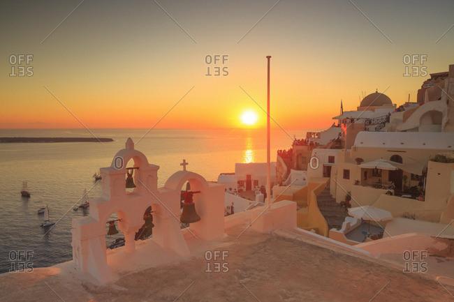 Oia village at sunset