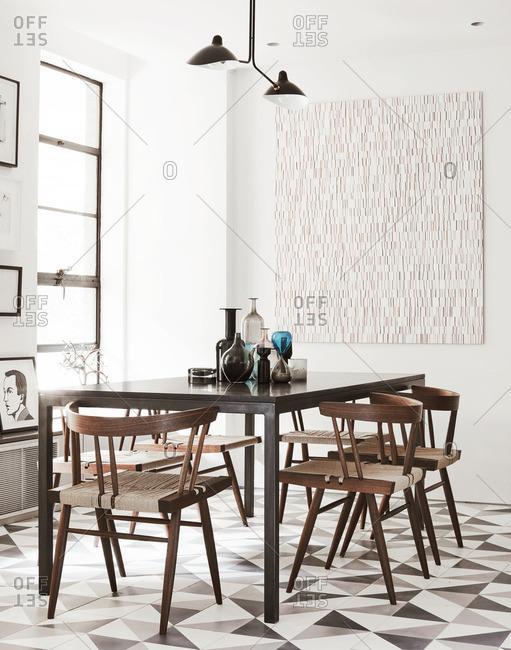 A dining room interior
