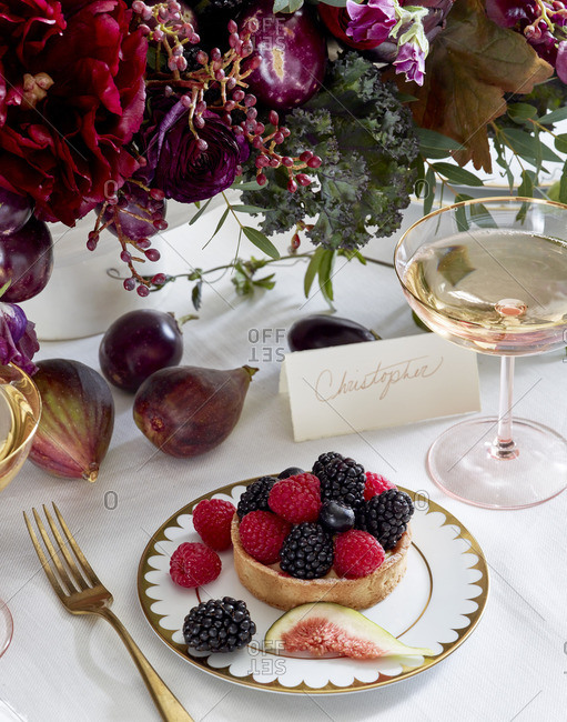 Fruit tart for wedding reception