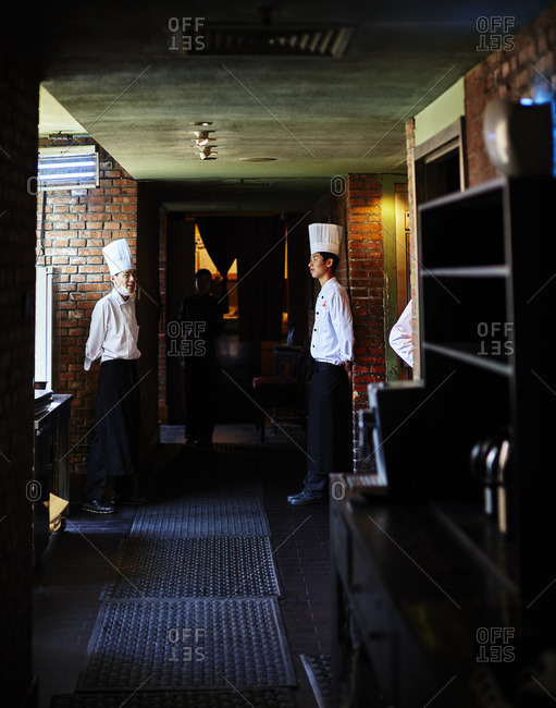 Chefs in Beijing restaurant