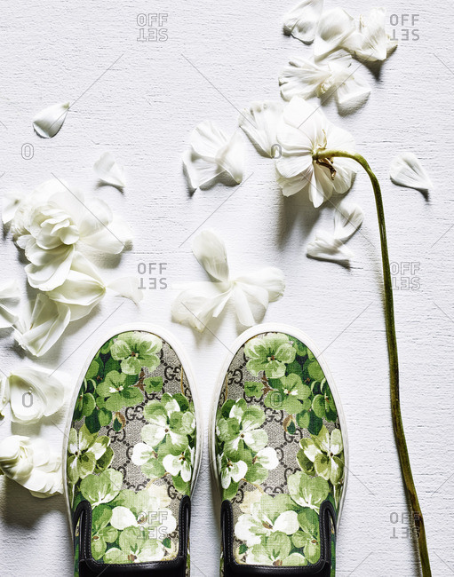 Floral shoes and flowers - Offset