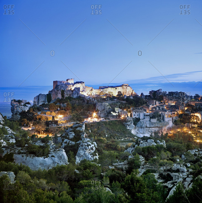 The medieval castle of Les Baux-de-Provence