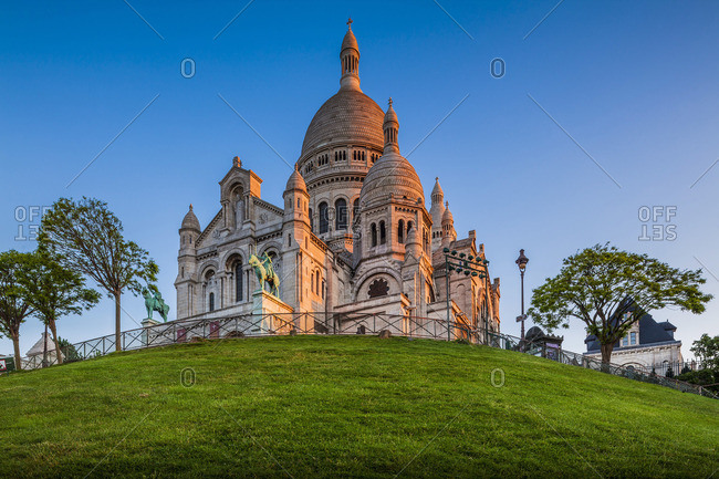 Basilica of the Sacred Heart of Paris also known as Sacre-Coeur Basilica