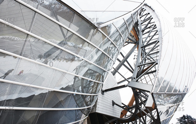 The Louis Vuitton foundation building