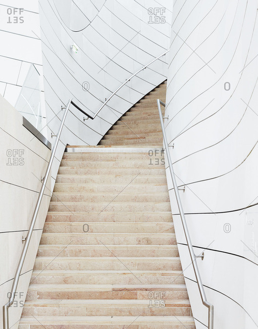 Stairs in a modern building