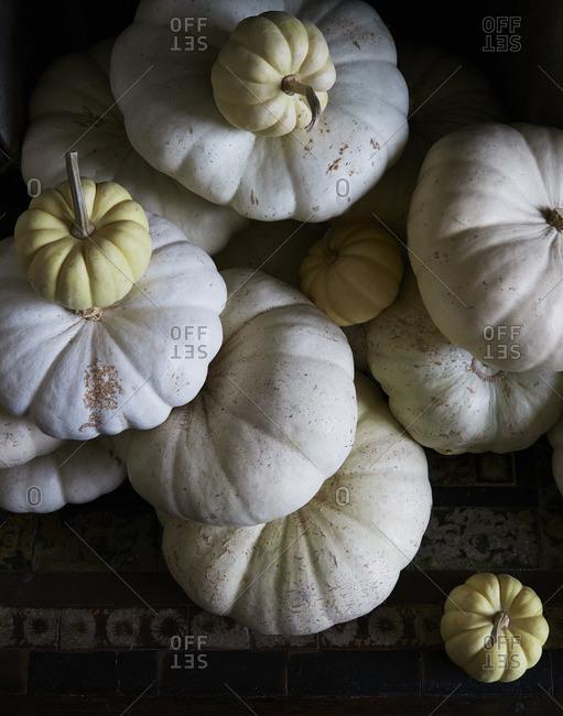Stack of light pumpkins