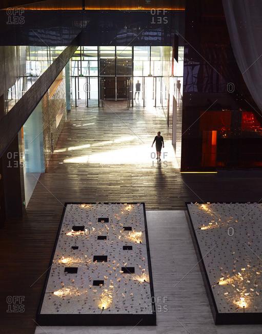 Lobby of modern Beijing hotel