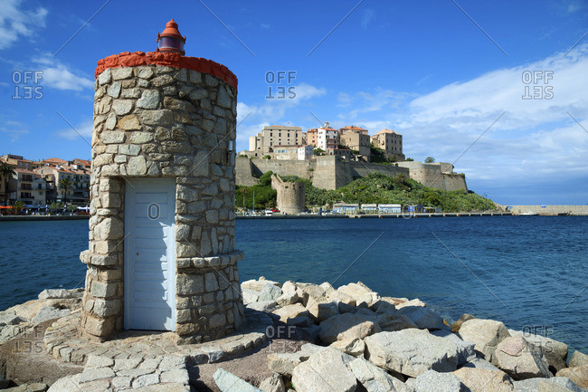 The lighthouse and the fortified citadel in background