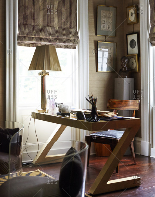 Modern desk in home office