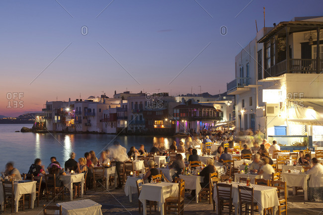The Little Venice quarter at night