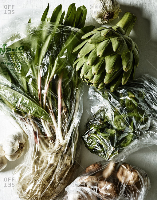 Vegetable variety in bags