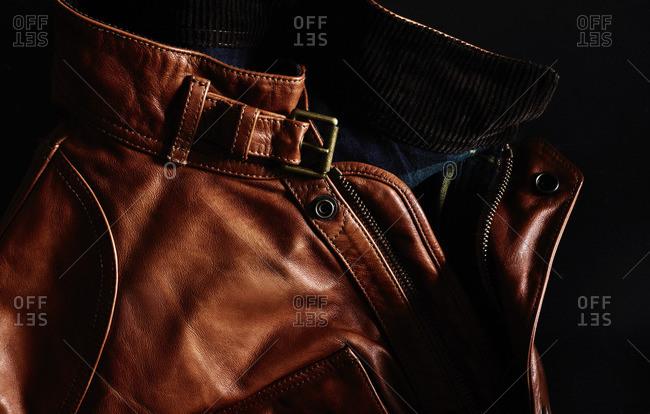 Brown jacket collar