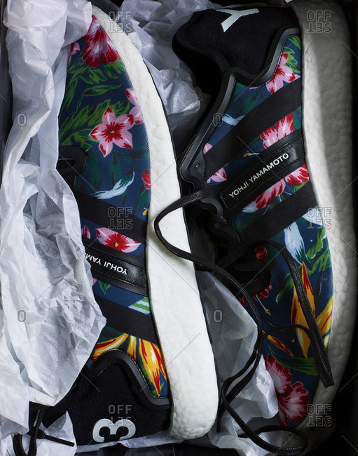 Pair of floral designer shoes