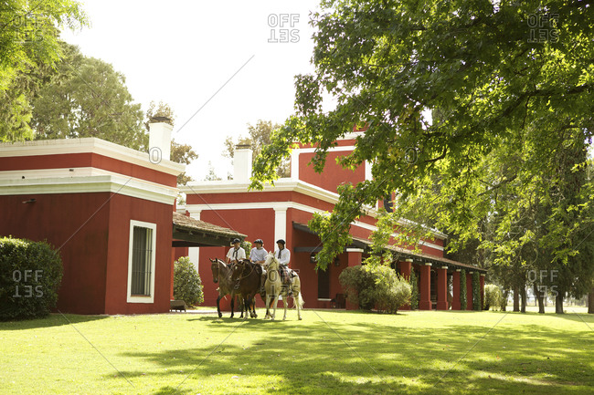 March 18, 2013: Accommodations at ranch for tourists in Argentina
