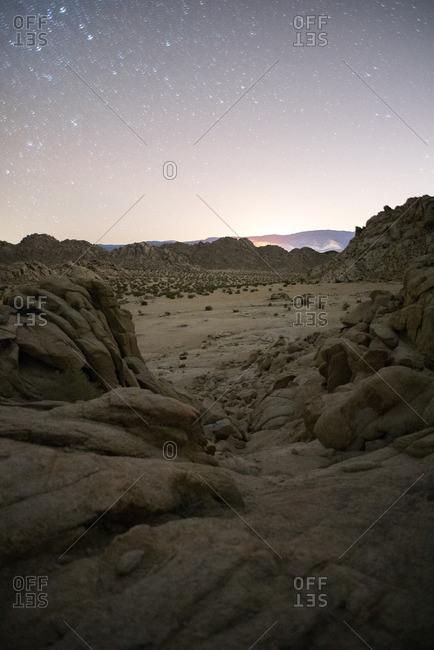 High Desert under a starry sky