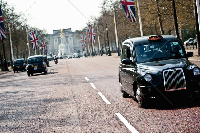 London, England - March 30, 2012: Traffic on the Mall, London