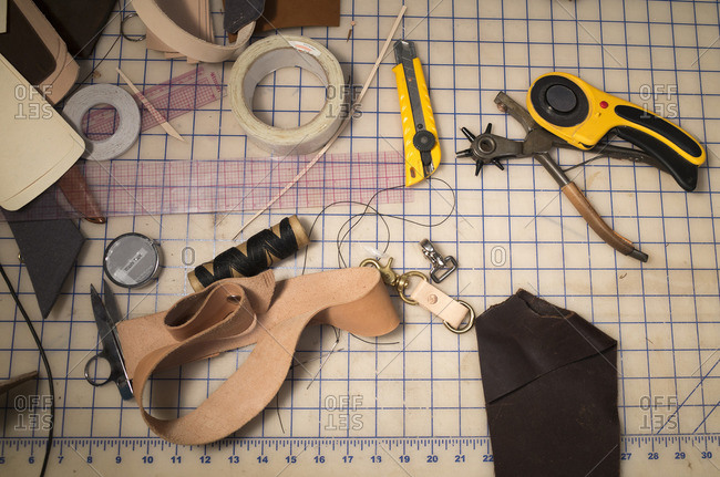 11/29/15: Tools used for making leather ware