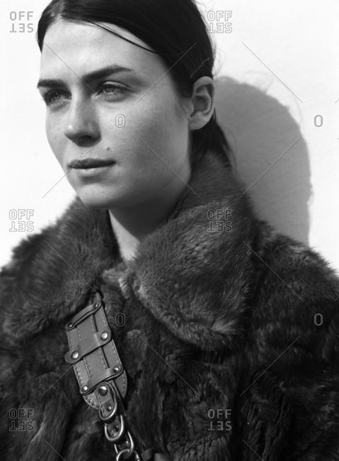 Portrait of a young Scandinavian woman