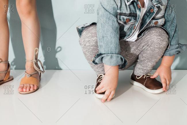 Boy and Girl Legs