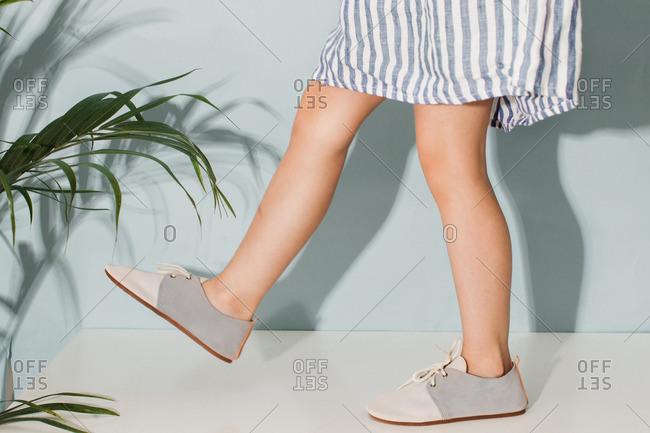 Girl Walking in Shoes