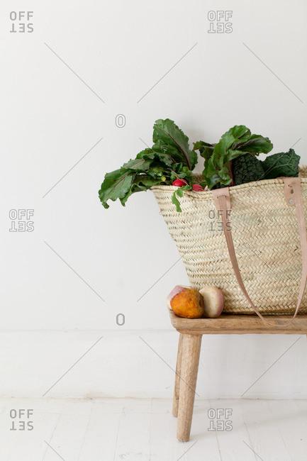 Vegetables in Market Basket