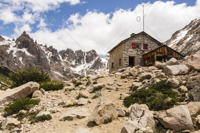 Mountain hut in the Andes, Nahuel Huapi National Park, Patagonia