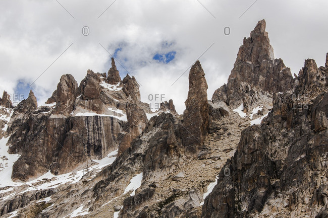 Scenic view of the rocky spires at Cerro Catedral, Patagonia, Argentina