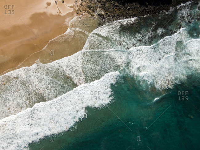 Surfing in La Oliva, Canarias