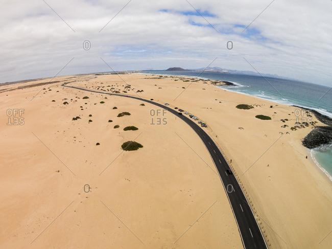 Ocean drive in Fuertaventura
