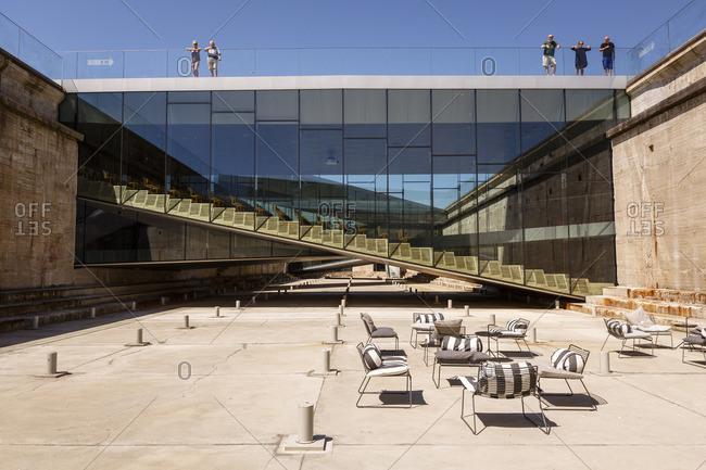 Helsingor, Denmark - July 3, 2015: Courtyard of the Maritime Museum of Denmark