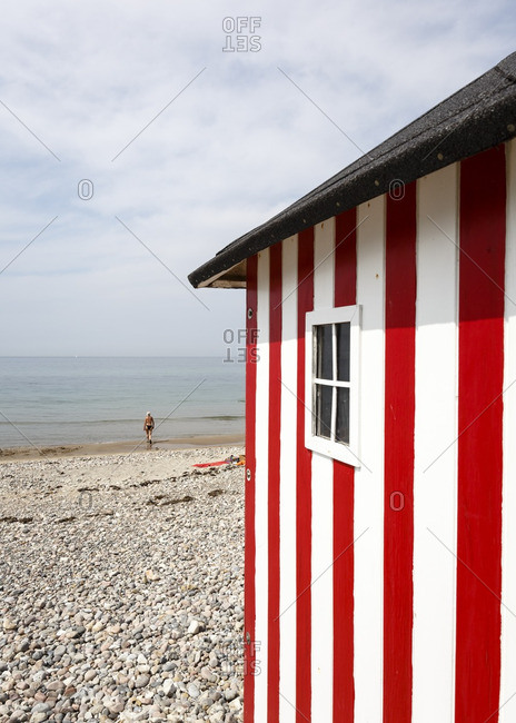 Bathing hut at Rageleje beach