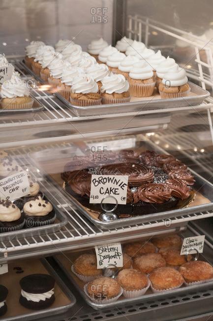 Vegan, allergy-friendly cakes on display