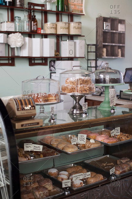 Vegan, allergy-friendly pastries and cakes on display
